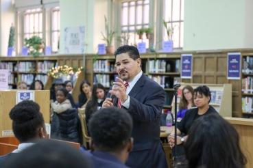 """Chancellor Carranza Tells Students, """"I Am You."""""""