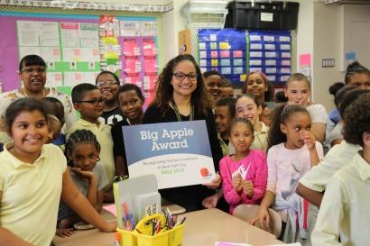 Congratulations to 2018 Big Apple Award Winner, Stephanie Flete of Urban Scholars Community School