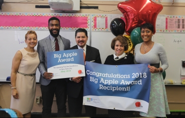 Congratulations to Damen Davis of I.S. 303 in the Bronx on Winning a 2018 Big Apple Award