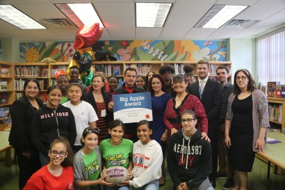 Congratulations to Mike Rosario of P.S./M.S. 279 on Winning a 2018 Big Apple Award