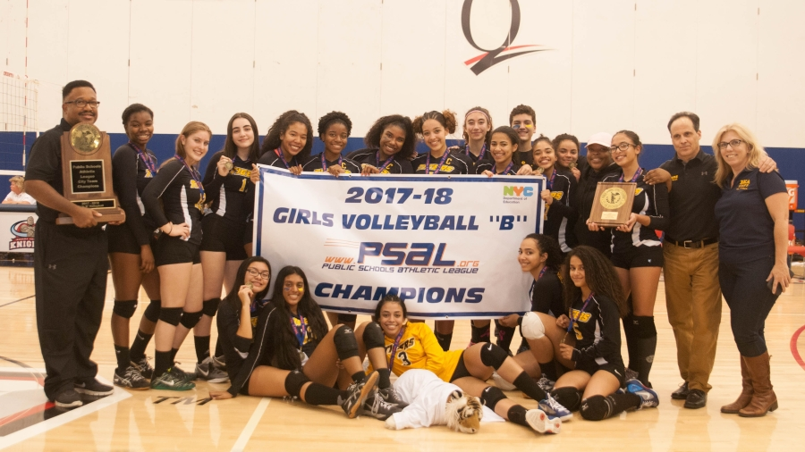 Riverdale/Kingsbridge Academy Claimed the 2017–18 Girls Volleyball B Championship