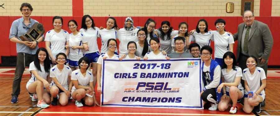 Stuyvesant H.S. Won the 2017–18 Girls Badminton Championship