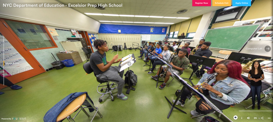 Virtual Tour Excelsior Prep Screen Shot - Band